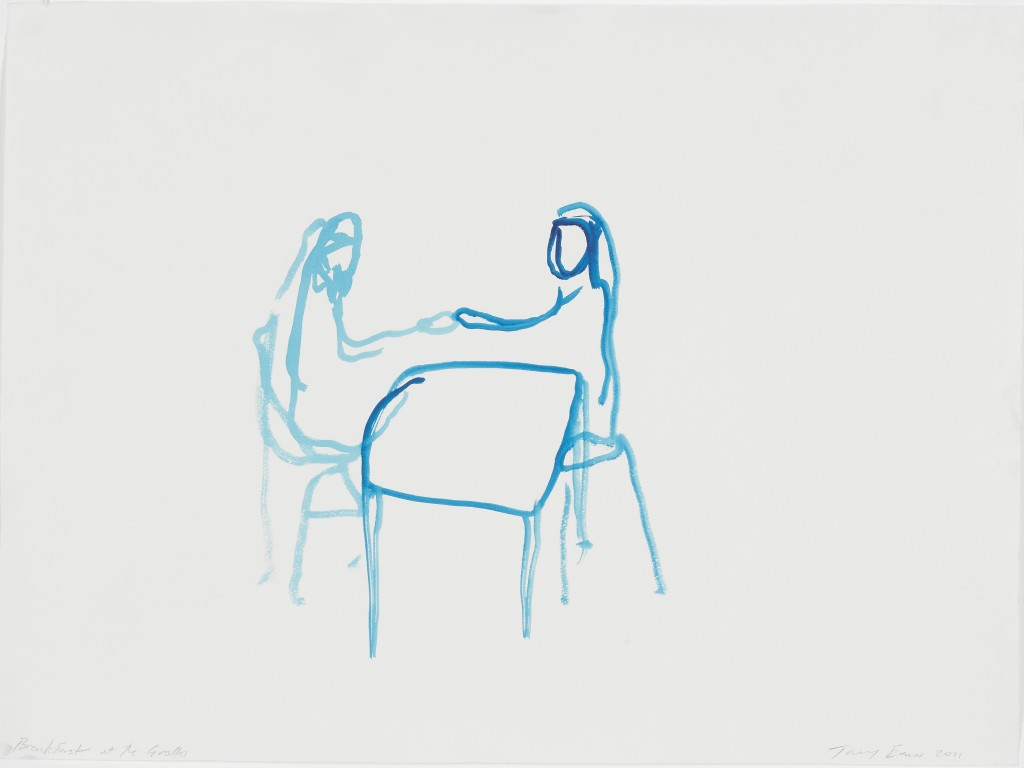 tracey-emin-breakfast-at-the-grotto-2011-gouache-on-paper-c2a9-the-artist-courtesy-of-white-cube-photo-ben-westoby
