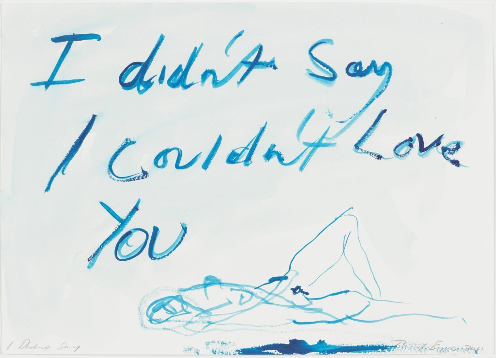 tracey-emin-i-didne28099t-say-2011-gouache-on-paper-c2a9-the-artist-courtesy-of-white-cube-photo-ben-westoby