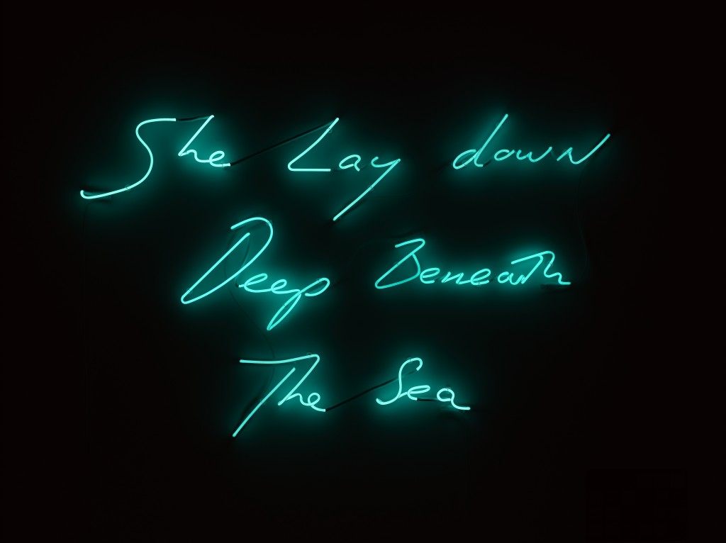 tracey-emin-she-lay-down-deep-beneath-the-sea-2012-neon-c2a9-the-artist-courtesy-white-cube-photo-ben-westoby