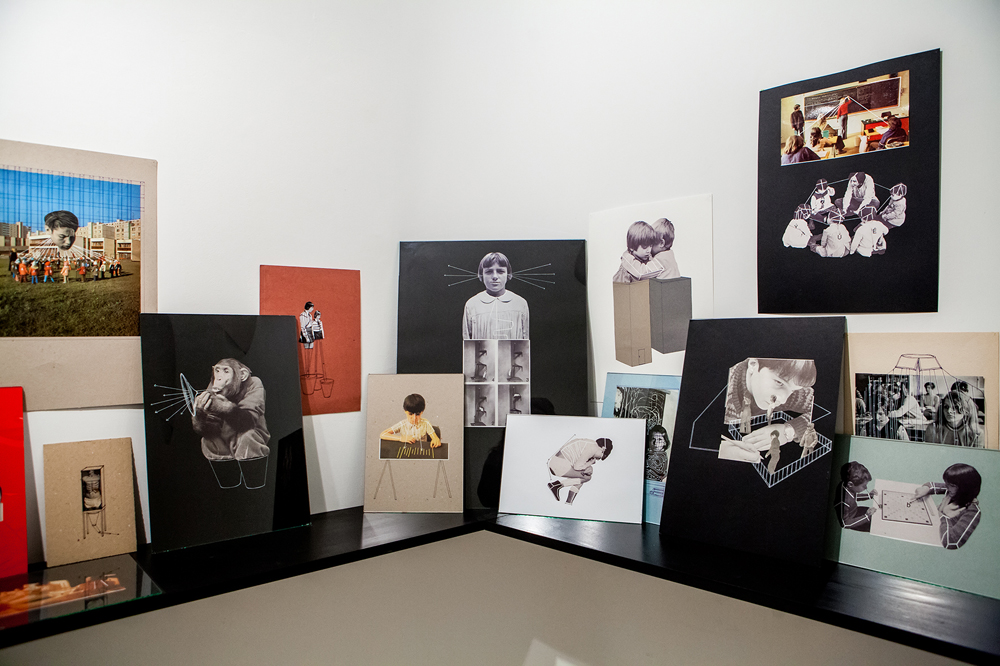 <em>Eva</em> Kotátková. Collages and works on paper from the series Educational Model (2010) and Parallel Biography (2011) . Courtesy Hunt Kastner, Prague.