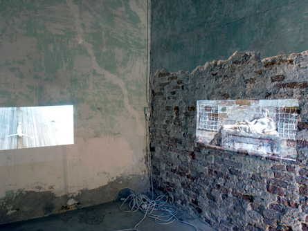 <em>Khaled Hafez On Noise, Sound & Silence</em>, 2013 Three channel video installation (5?) and Memory Box