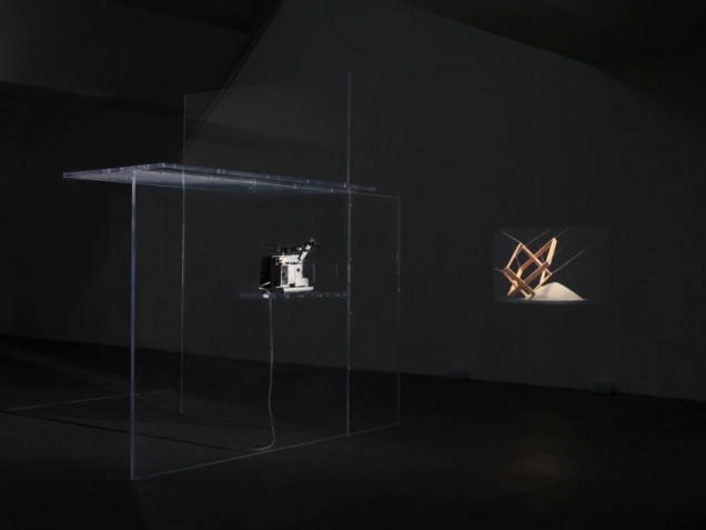 <em>Bojan Šar?evi?</em>, The Breath Taker is The Breath Giver (Film C), 2009. Super 16mm film, sound, colour; perspex 300 × 300 × 200 cm. Courtesy of the artist and Modern Art, London.