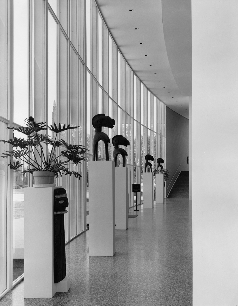 Installation views of CAMH exhibition at the Museum of Fine Arts, Houston, <em>Totems Not Taboo</em>, 2/26/1959- 3/29/1959. Photo: Maurice Miller, Courtesy of the Museum of Fine Arts, Houston, Archive